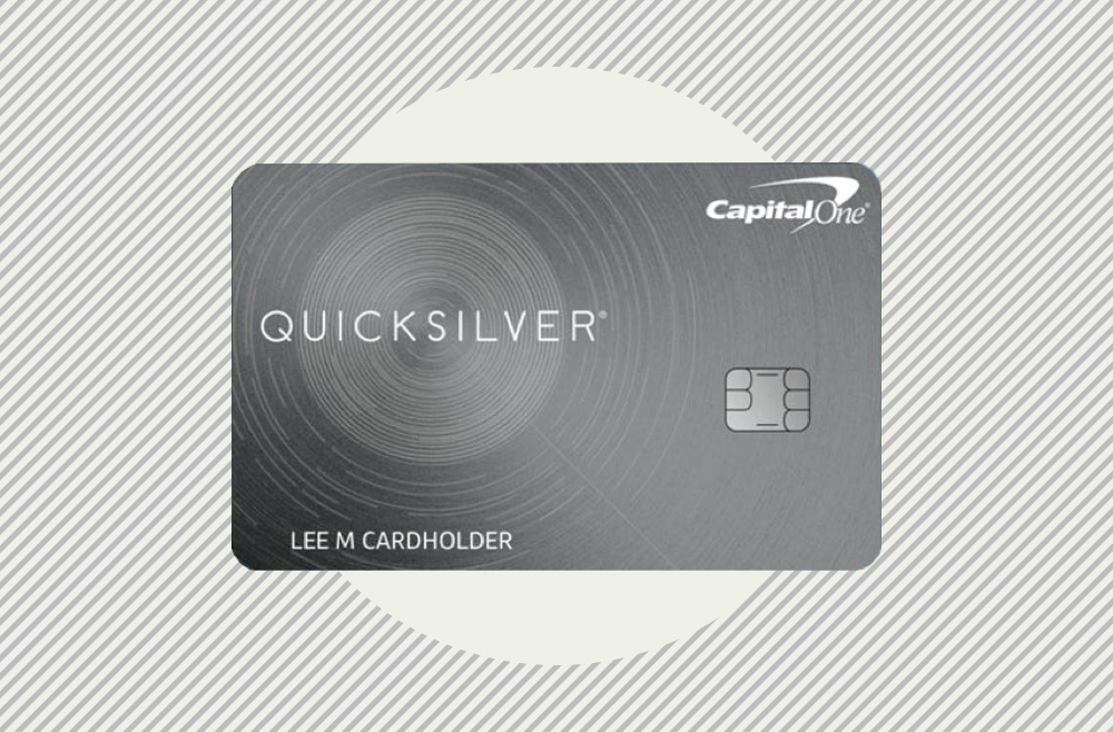 Image showing the Capital One Quicksilver credit card