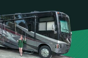 Photo showing Brandi Stephens, a 3-time RV owner who's made it her mission to help other people get in on the RV life.