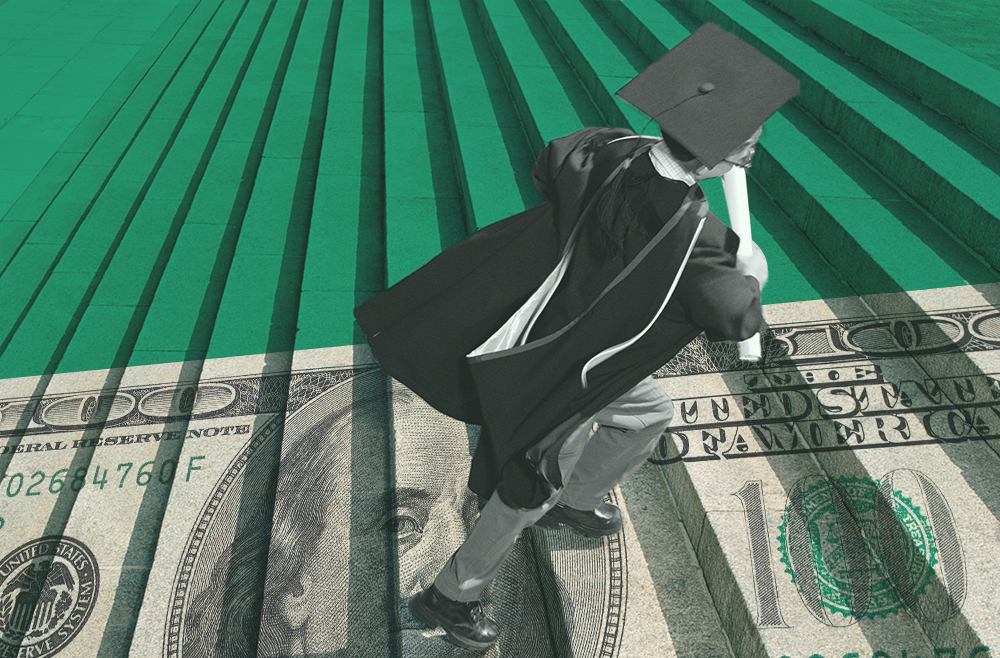 Photo to accompany story about student loan debt.