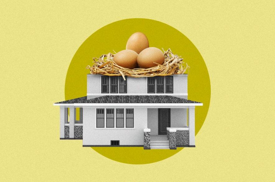 A photo to accompany a story about using a home equity loan for debt consolidation