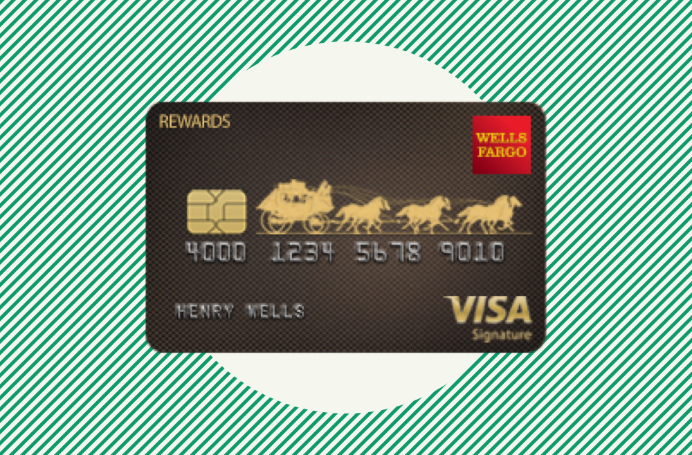 A photo to accompany a story about the Wells Fargo Visa Signature Card