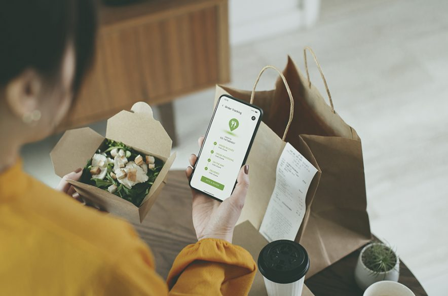 A photo to accompany a story about the best credit cards for food delivery