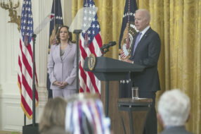 President Joe Biden is pictured speaking at the White House Thursday, July 22. The Biden administration announced new foreclosure prevention measures Friday, July 23, for homeowners who have government-back loans.