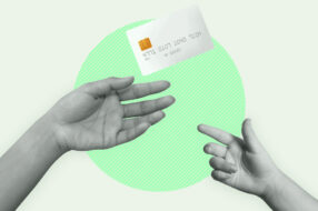 A photo to accompany a story about giving your child a credit card