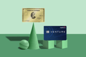 An image to accompany a story about the American Express Gold Card and Capital One Venture Rewards card