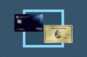 An image to accompany a story about the Chase Sapphire Reserve and Amex Gold cards