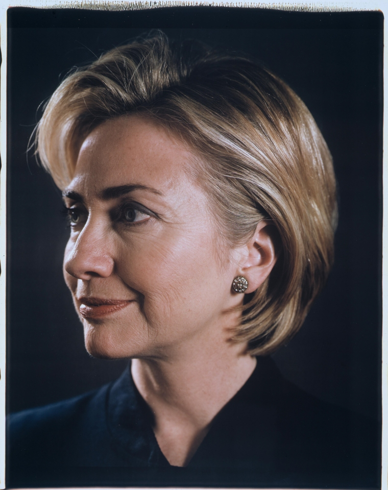 hillary clinton CHUCK CLOSEHillary, 1999Color Polaroid26 1/2 x 22 inches