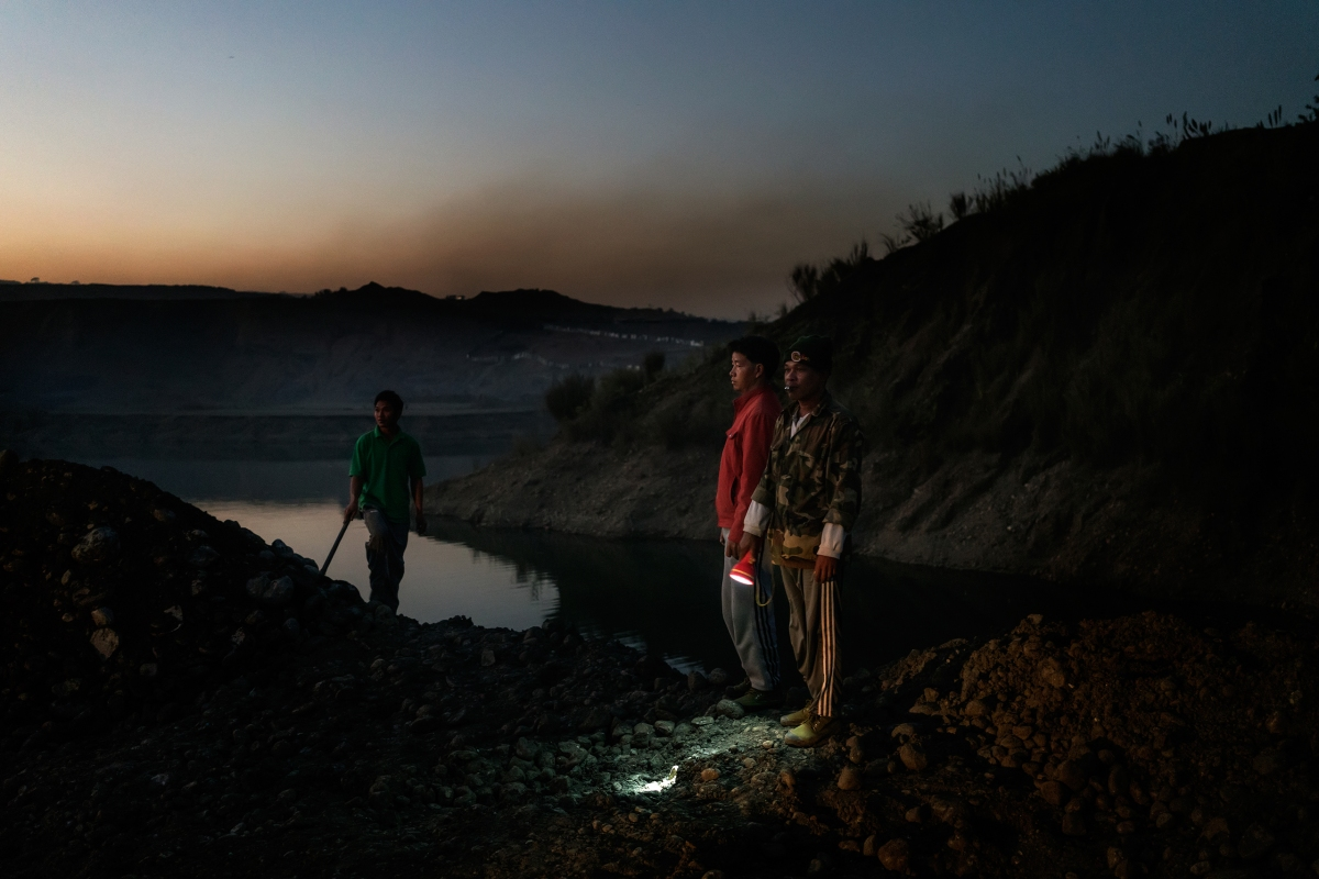At night, hillsides are pinpricked by the flashlights of miners hunting for chunks of jadeite.