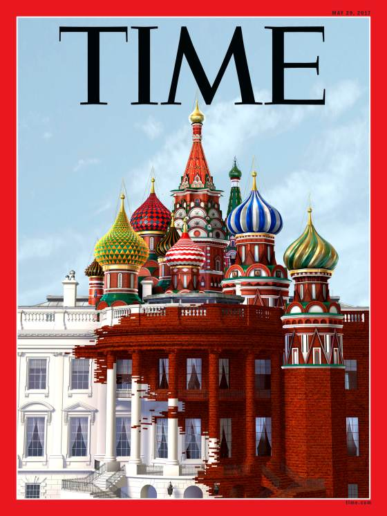 Russia Red Square White House Time Magazine Cover